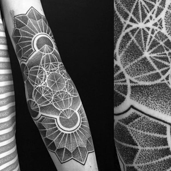 Mens Cool Metatrons Cube Tattoo Design Inspiration