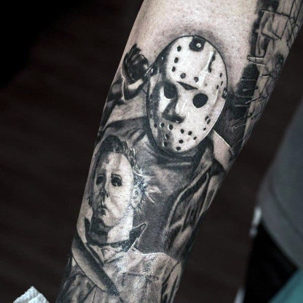 Mens Cool Michael Myers Tattoos