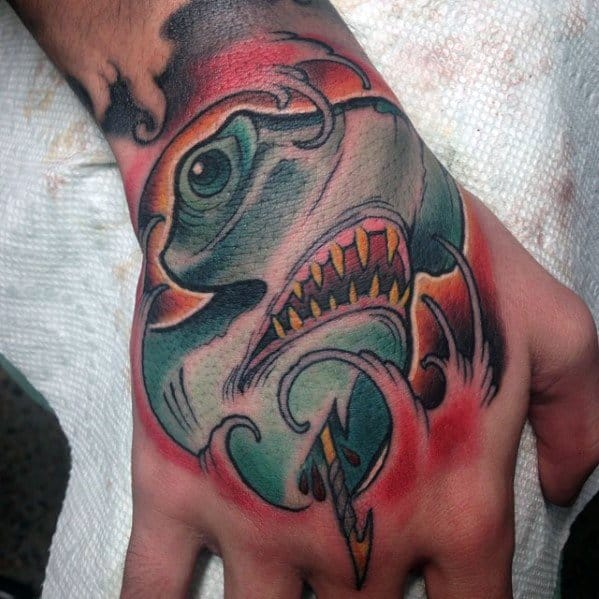 mens-cool-neo-traditional-shark-tattoo-ideas