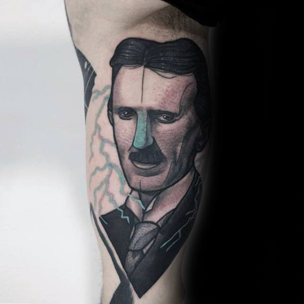 Mens Cool Nikola Tesla Tattoo Ideas