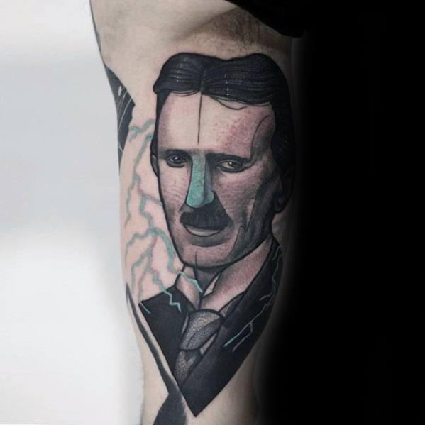 Mens Cool Nikola Tesla Tattoo Ideas