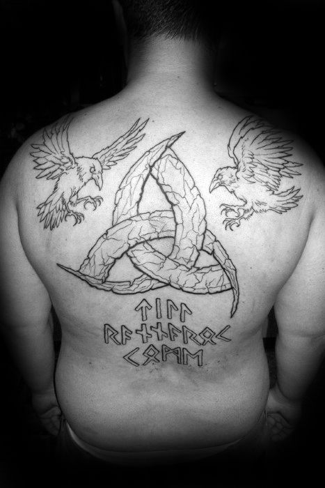 Mens Cool Odins Ravens Tattoo Ideas