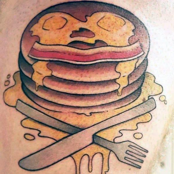 Mens Cool Pancake Tattoos