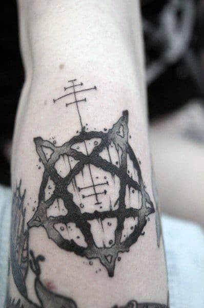 Mens Cool Pentagram Tattoo Design Ideas