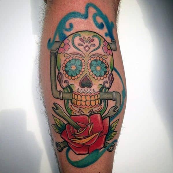 Mens Cool Plumbing Tattoo Ideas