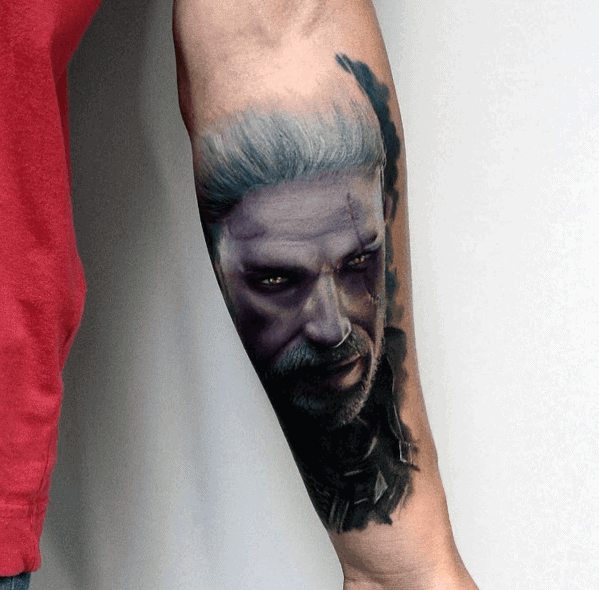 Mens Cool Portrait Tattoo Ideas Inner Forearm