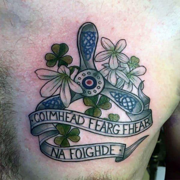Mens Cool Propeller Tattoos