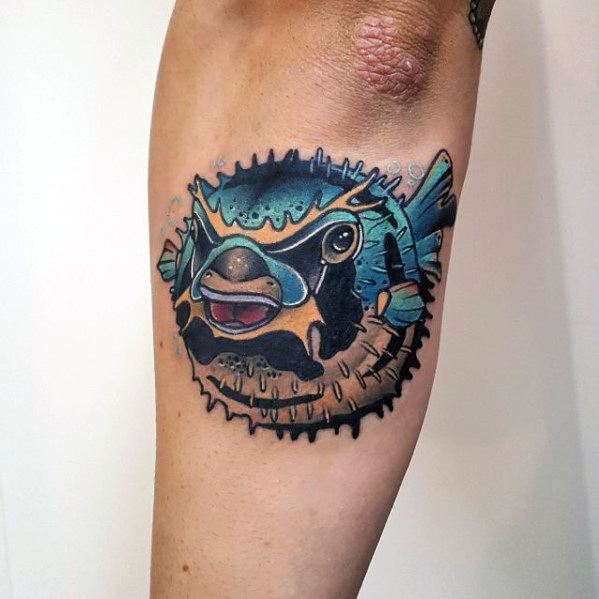Mens Cool Puffer Fish Tattoos