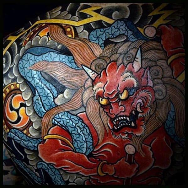 Mens Cool Raijin Tattoo Ideas