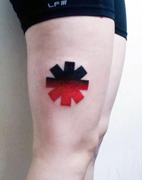 Mens Cool Red Hot Chili Peppers Tattoos