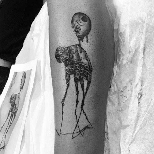 Mens Cool Salvador Dali Elephant Tattoo Ideas