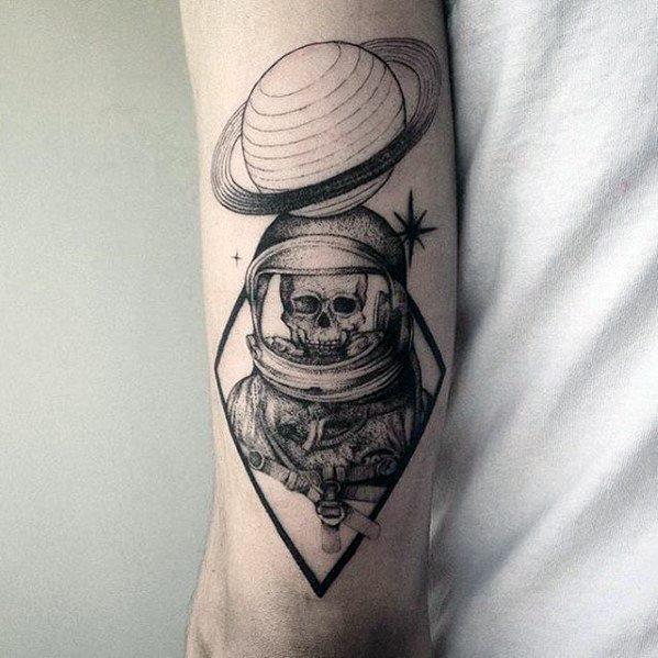Mens Cool Saturn Tattoo Ideas