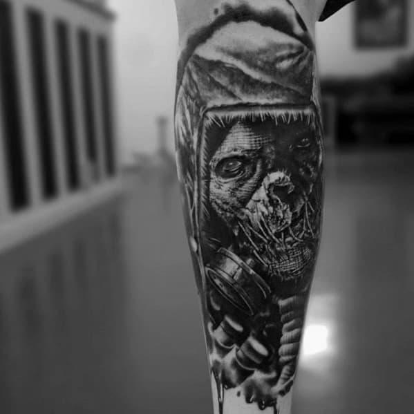 Mens Cool Scarecrow Tattoo Design Inspiration