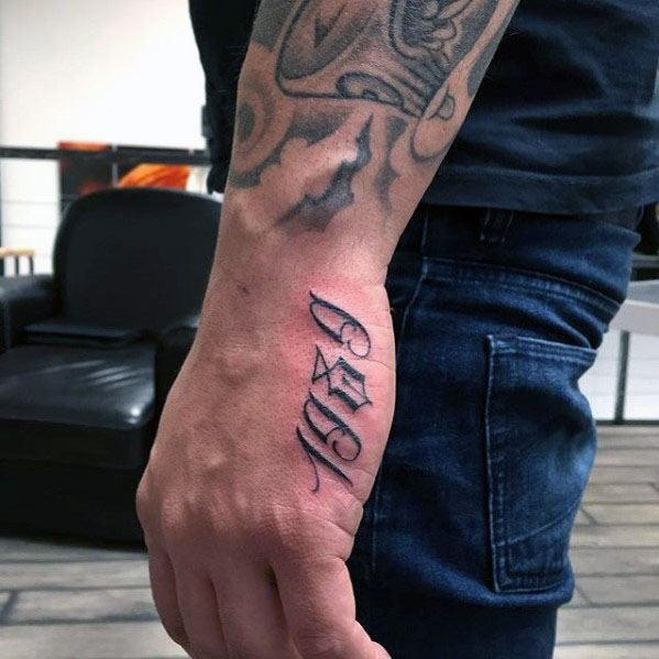Mens Cool Side Hand 1989 Numbers Tattoo Ideas