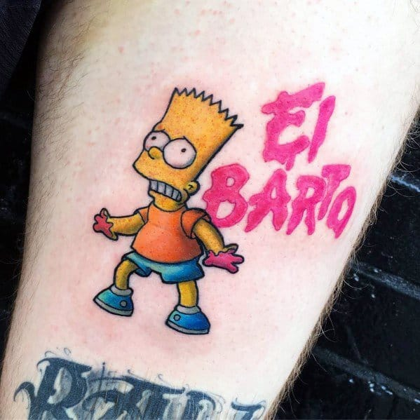 Mens Cool Simpsons Tattoos