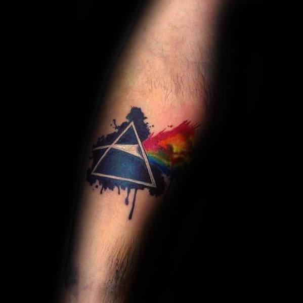 Mens Cool Small Inner Forearm Dark Side Of The Moon Tattoo Ideas