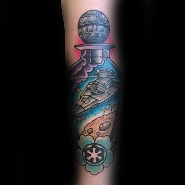 Mens Cool Star Destroyer Tattoo Ideas