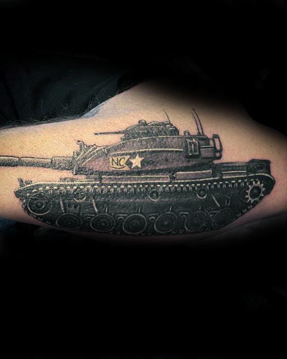 Mens Cool Tank Tattoo Ideas
