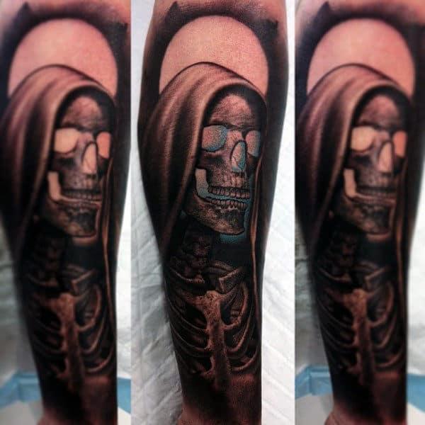 Men's Cool Tattoo Of Grim Reaper