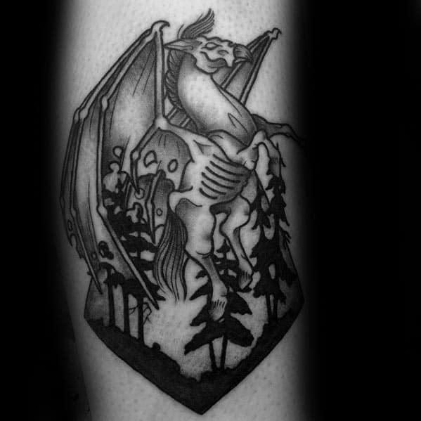 Mens Cool Thestral Tattoo Ideas