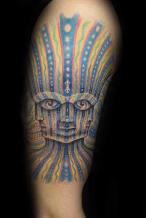 60 tool tattoo designs for men rock band ink ideas. Black Bedroom Furniture Sets. Home Design Ideas