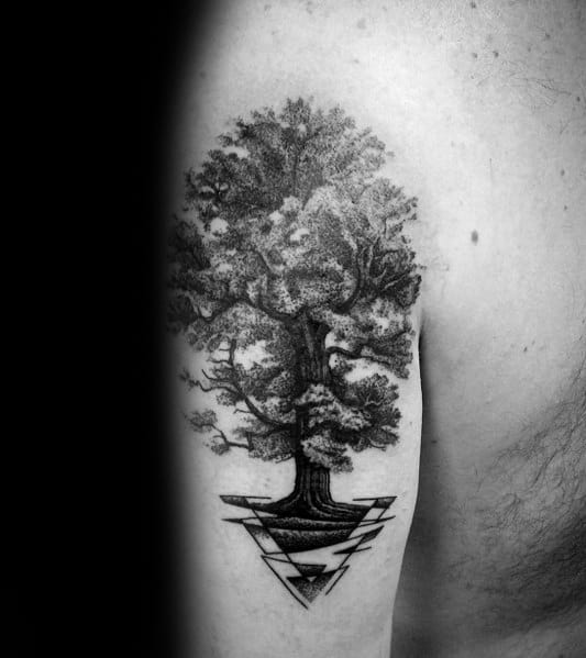 Mens Cool Tree Tattoo Ideas