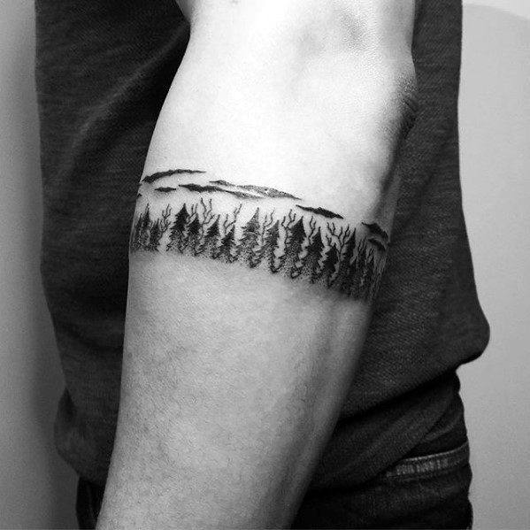 50 Tree Line Tattoo Design Ideas For Men
