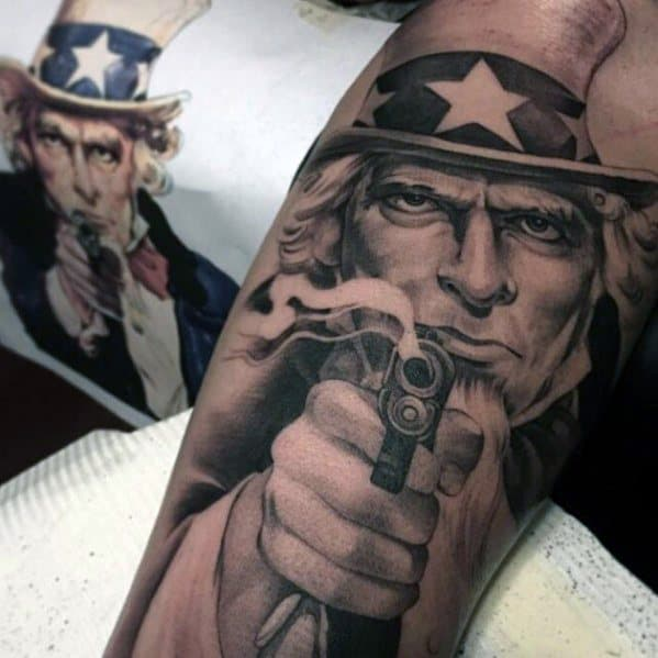 Mens Cool Uncle Sam Tattoo Ideas