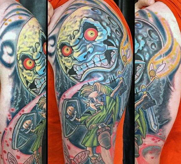 Mens Cool Upper Arm Zelda Tatoo Ideas