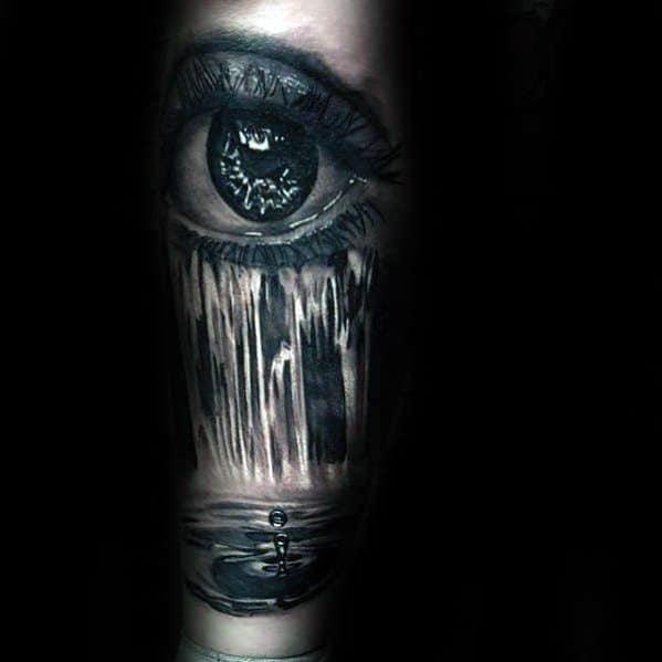 Mens Cool Water Drop Tattoo Ideas