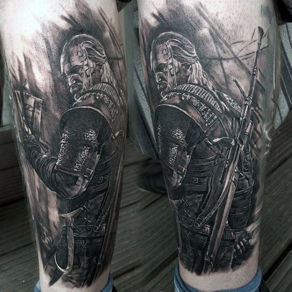 Mens Cool Witcher Tattoo Design Inspiration