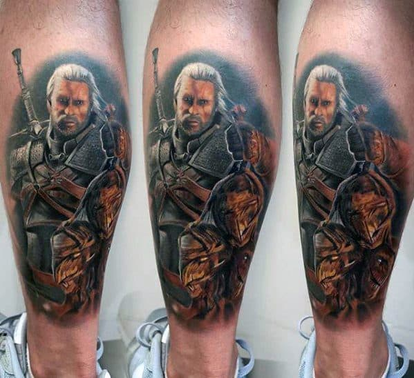 Mens Cool Witcher Tattoo Ideas