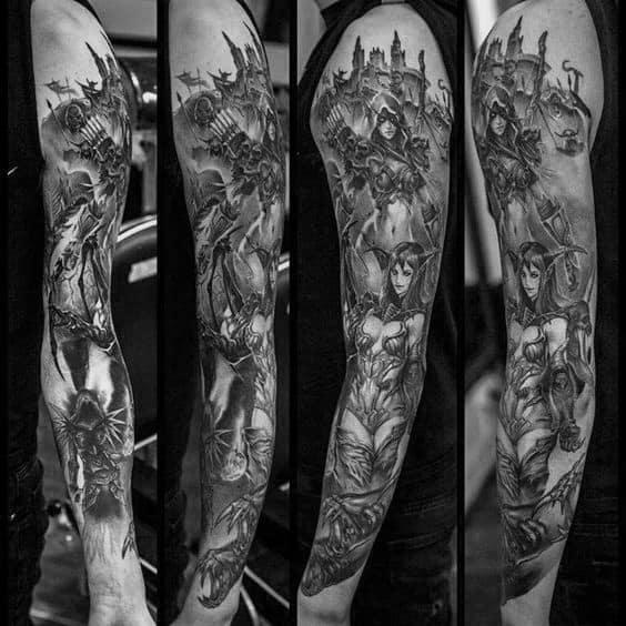 Mens Cool World Of Warcraft Tattoos