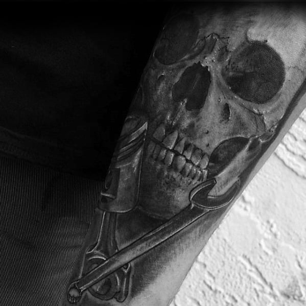 Mens Cool Wrench Tattoo Ideas