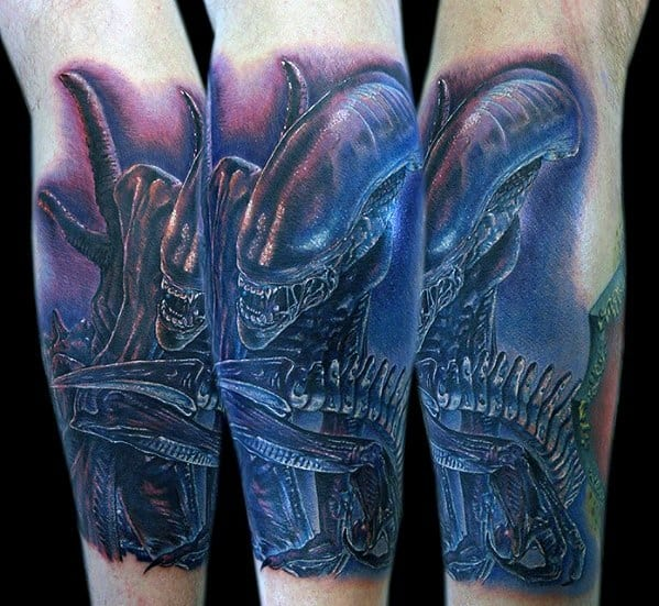 Mens Cool Xenomorph Tattoo Ideas