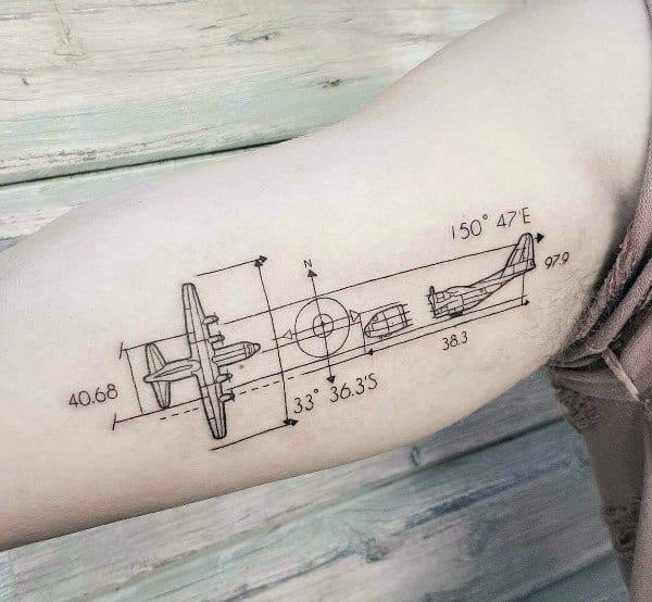 Mens Coordinates Tattoo Designs