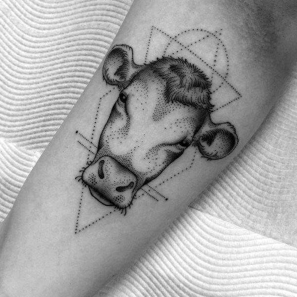Mens Cow Tattoo Designs