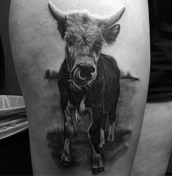 Mens Cow Tattoo