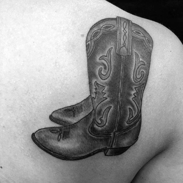 Mens Cowboy Boot Tattoo Designs