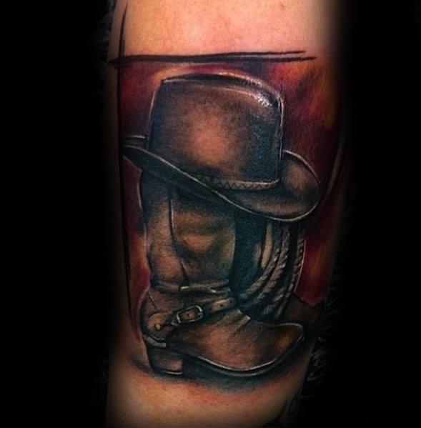 Mens Cowboy Boot Tattoo Ideas
