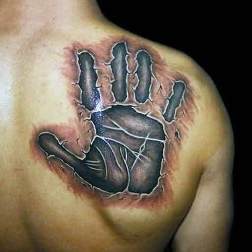 60 handprint tattoo designs for men impression ink ideas. Black Bedroom Furniture Sets. Home Design Ideas