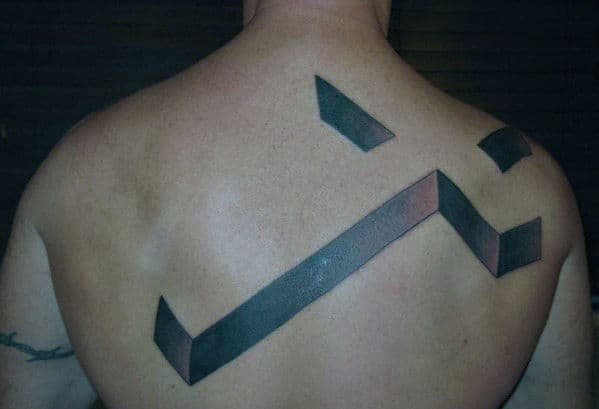 Men's Cross Back Tattoo Ideas