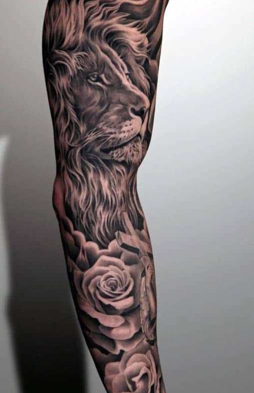 Men's Cross Tattoos Sleeve