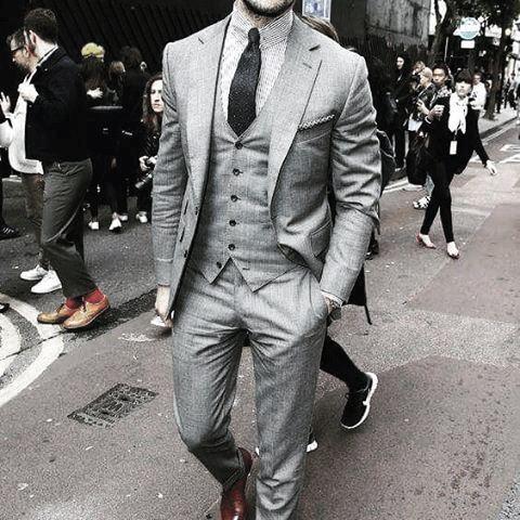 Mens Dapper Grey Suit Style Ideas