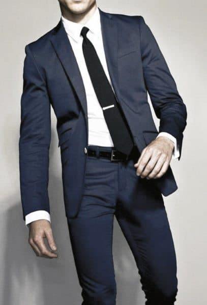 Mens Dapper Navy Blue Suit Style Ideas