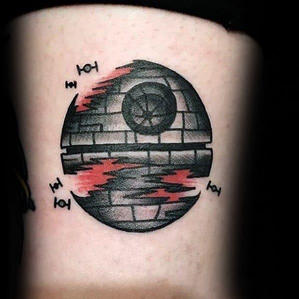 Mens Death Star Tattoo Design Inspiration
