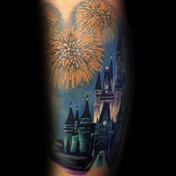 Mens Designs Fireworks Tattoo