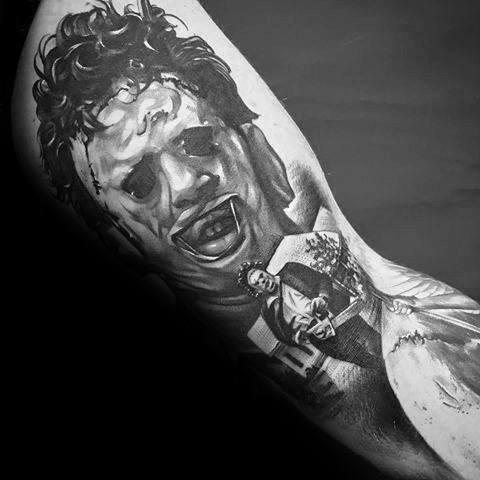 Mens Designs Horror Movie Tattoo