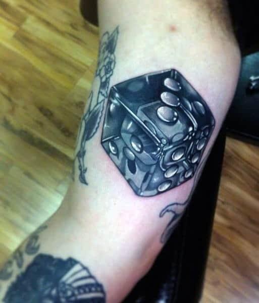Mens Dice Tattoos