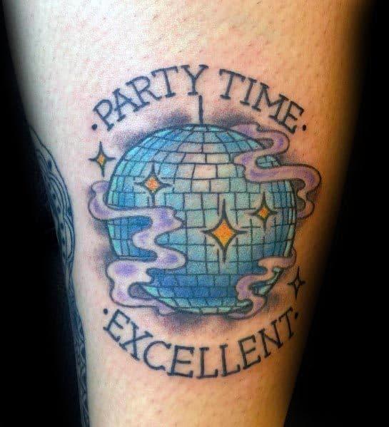 Mens Disco Ball Tattoo Ideas